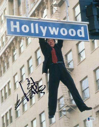 "Jackie Chan Autographed 11"" x 14"" Rush Hour Hollywood Sign Photograph - BAS COA"