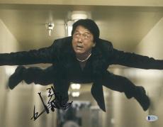 """Jackie Chan Autographed 11"""" x 14"""" Rush Hour Wall Photograph - BAS COA"""