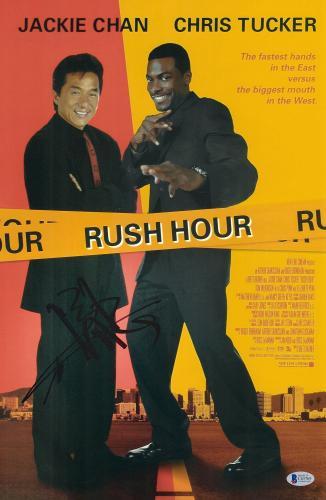 "Jackie Chan Autographed 12"" x 18"" Rush Hour Movie Poster - BAS COA"