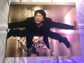 Jackie Chan Hand Signed Autographed 11x14 Photo Rush Hour Proof Bas Beckett Cert