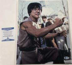 Jackie Chan Signed 11x14 Photo Authentic Autograph Rush Hour Beckett Coa A
