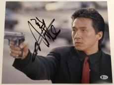 JACKIE CHAN Signed 11x14 Photo Auto Rush Hour The Foreigner ~ Beckett BAS COA
