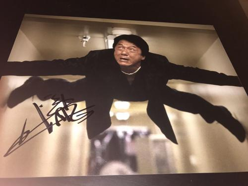 JACKIE CHAN SIGNED AUTOGRAPH 11x14 PHOTO RUSH HOUR PROMO IN PERSON AUTO Z2