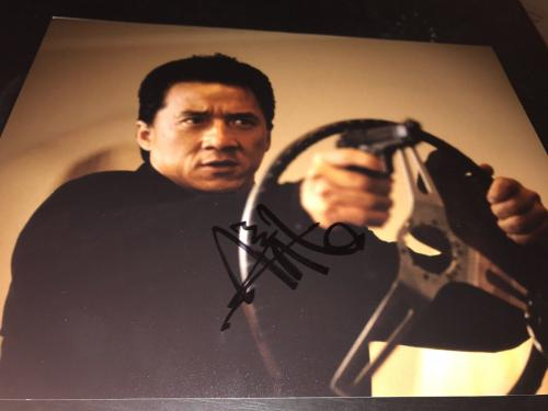 JACKIE CHAN SIGNED AUTOGRAPH 11x14 PHOTO RUSH HOUR PROMO IN PERSON LEGEND X1