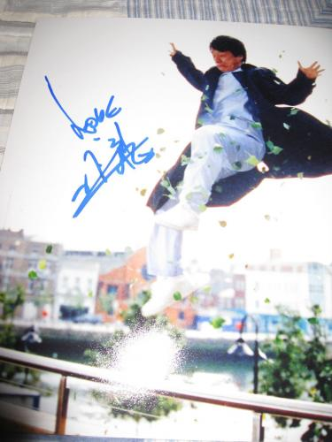 Jackie Chan Signed Autograph 8x10 Photo Rush Hour Promo In Person Coa Auto Ny D