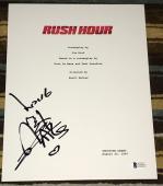 "Jackie Chan Signed Autograph Very Rare ""rush Hour"" Complete Movie Script Coa Bas"
