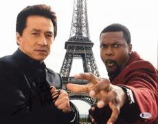 Jackie Chan Signed Rush Hour 11x14 Photo BAS Beckett C81083