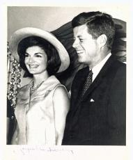 Jackie Kennedy w/ John F Kennedy Signed Autographed 8x10 Photograph Beckett BAS