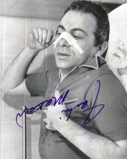 Jackie Mason Autographed Signed Bandage Photo AFTAL