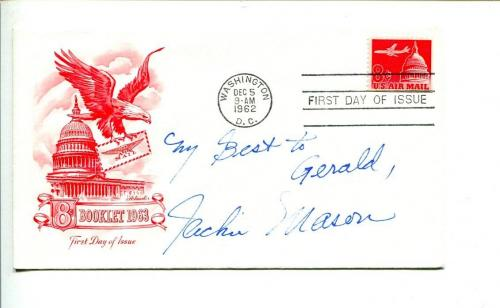 Jackie Mason Famous Comedian Signed Autograph FDC