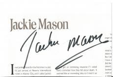 Jackie Mason Movie/comedy Legend Signed Autographed 5x7 Photo W/coa Authentic