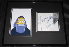 Jackie Mason The Simpsons Signed Framed 11x14 Photo Display JSA