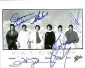 Jackson 5 Michael Jackie Tito Marlon Jermaine Signed 8x10 Photo Beckett MINT 9