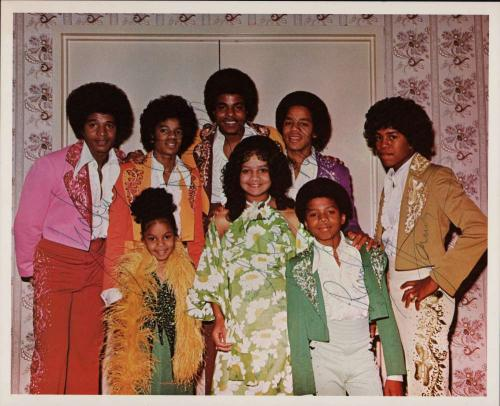 Jackson 5 Signed Autographed 8x10 Photograph w/ Michael Jackson Beckett BAS