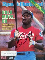JACKSON, BO AUTO (1986) (BOLD MOVE BO) (MLB) SPORTS ILLUSTRA - Mounted Memories