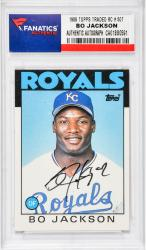 Bo Jackson Kansas City Royals Signed Rookie Card 1986 TOPPS TRADED RC # 50T
