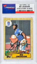 Autographed Bo Jackson Rookie Card 1987 TOPPS # 170