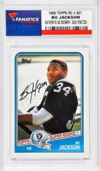 Bo Jackson Los Angeles Raiders Autographed Rookie Card 1988 TOPPS RC # 327