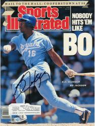 JACKSON, BO AUTO (1989) (NOBODY HITS EM) (MLB) SPORTS ILLUST - Mounted Memories