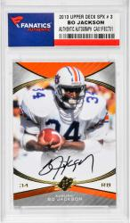 Bo Jackson Auburn Tigers Autographed Card 2013 UPPER DECK SPX # 3