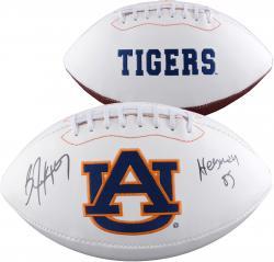 Bo Jackson Auburn Tigers Autographed White Panel Football With Heisman 85 Inscription