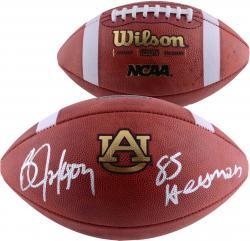 Bo Jackson Auburn Tigers Autographed Official NCAA Football With Heisman Inscription