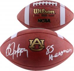 "Autographed Bo Jackson Football Auburn ""Heisman 85"""