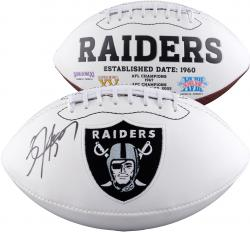 JACKSON, BO AUTO (RAIDERS) (WHITE PANEL) FOOTBALL - Mounted Memories