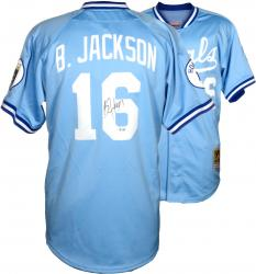 Bo Jackson Royals Autographed MLB Jersey