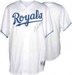 JACKSON, BO AUTO (ROYALS) (WHITE/MAJESTIC/REP) (MLB) JERSEY - Mounted Memories