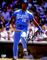 Bo Jackson Autographed 8x10 Photo Breaking Bat Over Knee