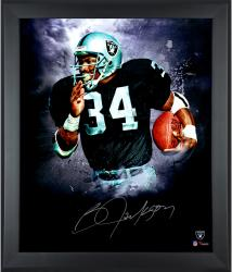 Autographed Bo Jackson Framed 20x24 In Focus Photo - Limited Edition #1