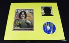 Jackson Browne 16x20 Framed Rolling Stone Cover & Looking East CD Display
