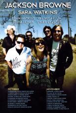Jackson Browne Band Autographed 12x18 Poster Photo UACC RD AFTAL TS