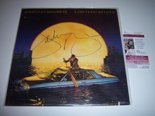 Jackson Browne Lawyers In Love Jsa/coa Signed Lp Record Album
