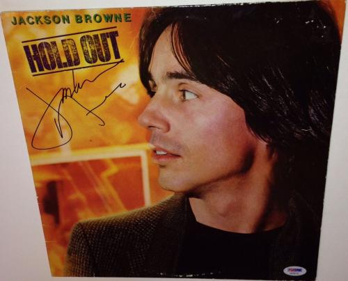 Jackson Browne signed album hold out lp autographed with psa dna coa