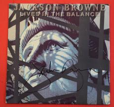 Jackson Browne Signed Autographed Lives In The Balance Record Album LP Vinyl