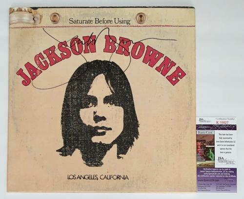 Jackson Browne Signed Saturate Before Using Record Album Jsa Coa K18827