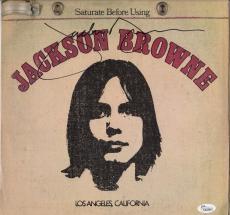 Jackson Browne Signed Saturate Before Using Record Album Jsa Coa K42304