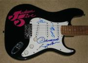 Jackson Five Autographed Guitar (jermaine, Tito, & Marlon)  W/ Proof!