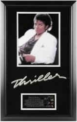 JACKSON, MICHAEL FRAMED (THRILLER) (ALBUM COVER PHOTO) w/BIO