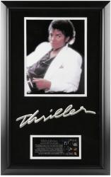 JACKSON, MICHAEL FRAMED (THRILLER) (ALBUM COVER PHOTO) w/BIO