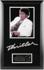 Michael Jackson Framed Thriller Album Cover Photograph with Biography