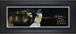 Reggie Jackson New York Yankees Framed Autographed 10'' x 30'' Filmstrip Photograph with Multiple Inscription-Limited Edition of 12 - Mounted Memories