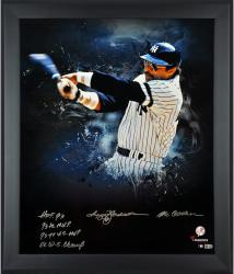 "Reggie Jackson New York Yankees Framed Autographed 20"" x 24"" In Focus Photograph with Multiple Inscription-Limited Edition of 12"