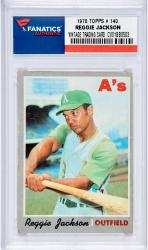 JACKSON, REGGIE (1970 TOPPS # 140) CARD - Mounted Memories