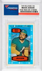 Reggie Jackson Oakland Athletics 1975 Kelloggs Card