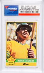 Reggie Jackson Oakland Athletics 1976 Topps All-Star #500 Card - Mounted Memories