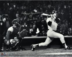 Reggie Jackson New York Yankees Autographed 16'' x 20'' World Series Photograph with 3 WS HRS Inscription - Mounted Memories