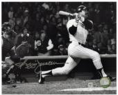 "Reggie Jackson New York Yankees Autographed 8"" x 10"" Horizontal Hitting Photograph"